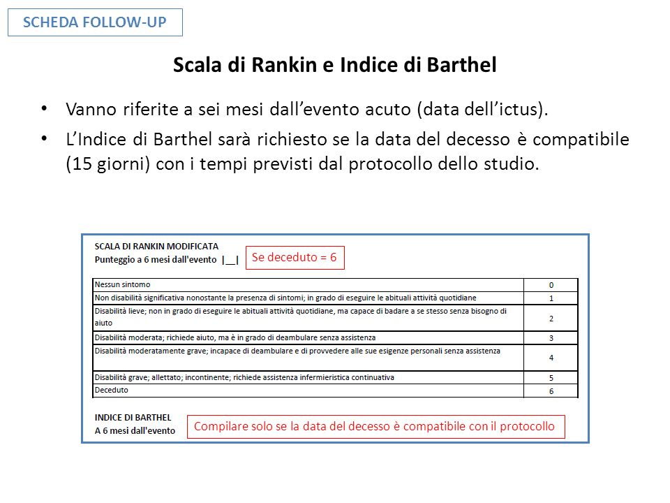 Scala di Rankin e Indice di Barthel