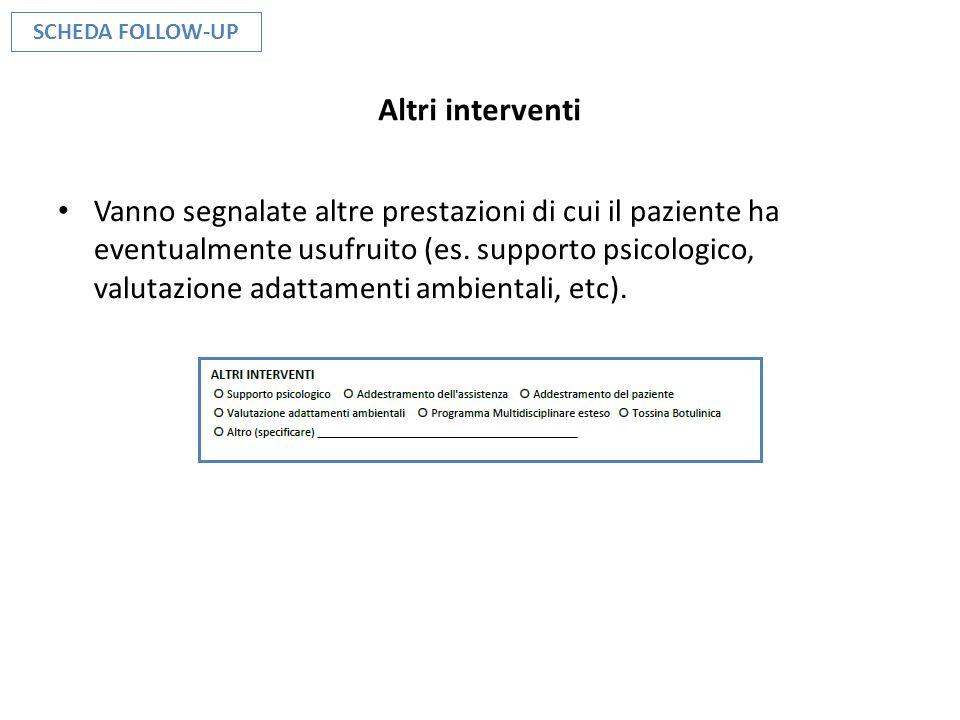 SCHEDA FOLLOW-UP Altri interventi.