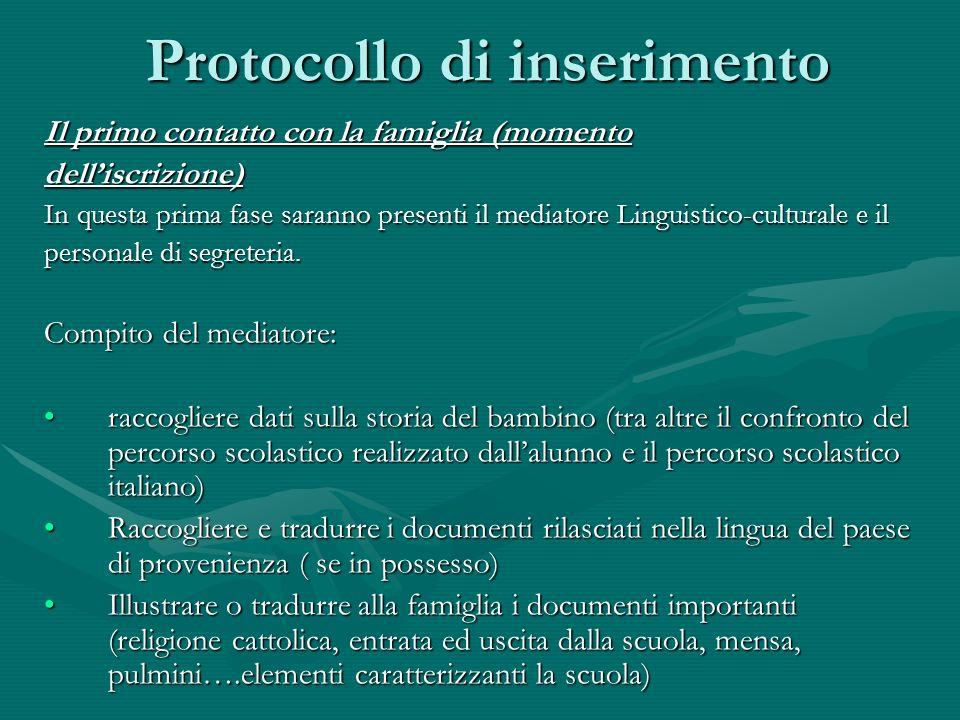 Protocollo di inserimento