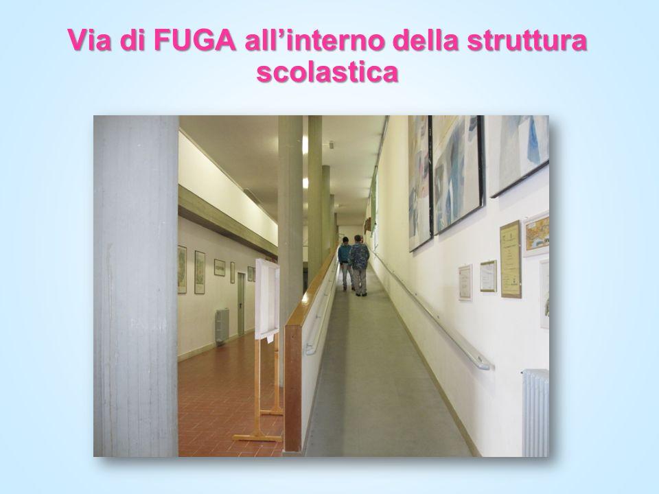 Via di FUGA all'interno della struttura scolastica