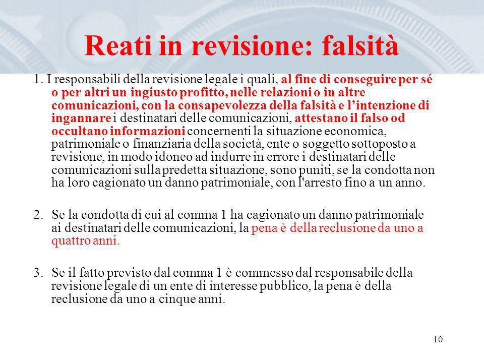 Reati in revisione: falsità