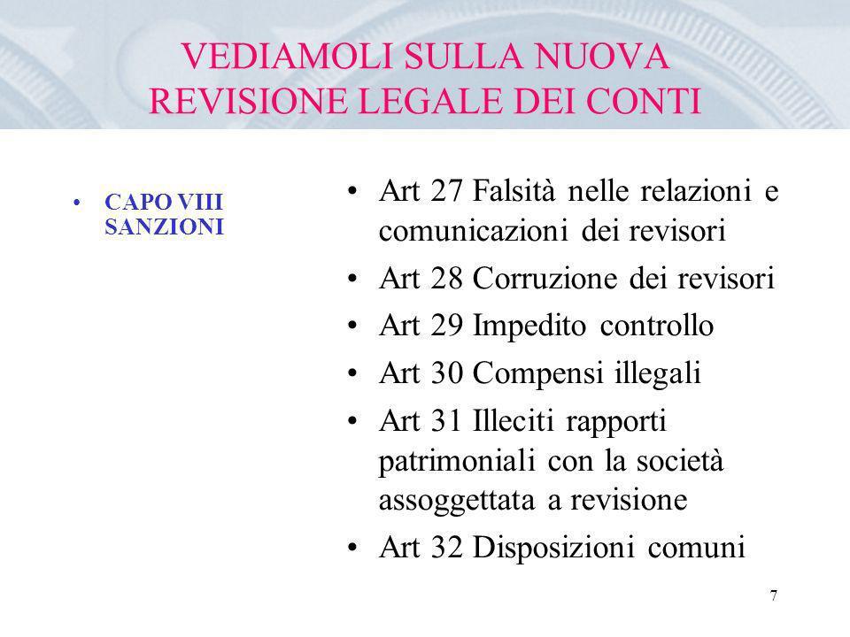 VEDIAMOLI SULLA NUOVA REVISIONE LEGALE DEI CONTI