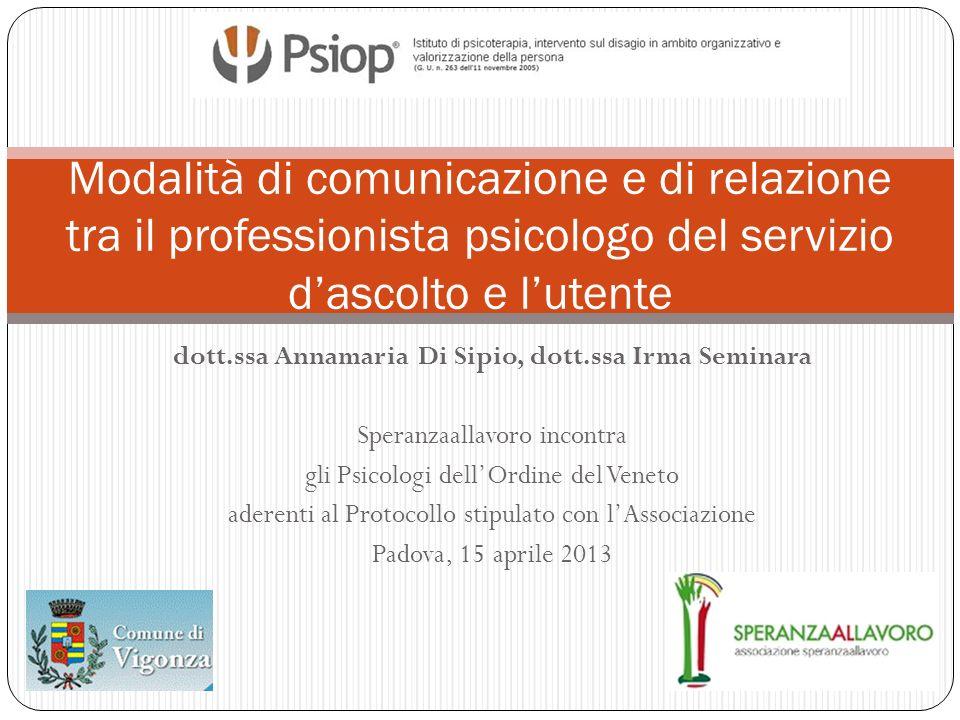dott.ssa Annamaria Di Sipio, dott.ssa Irma Seminara