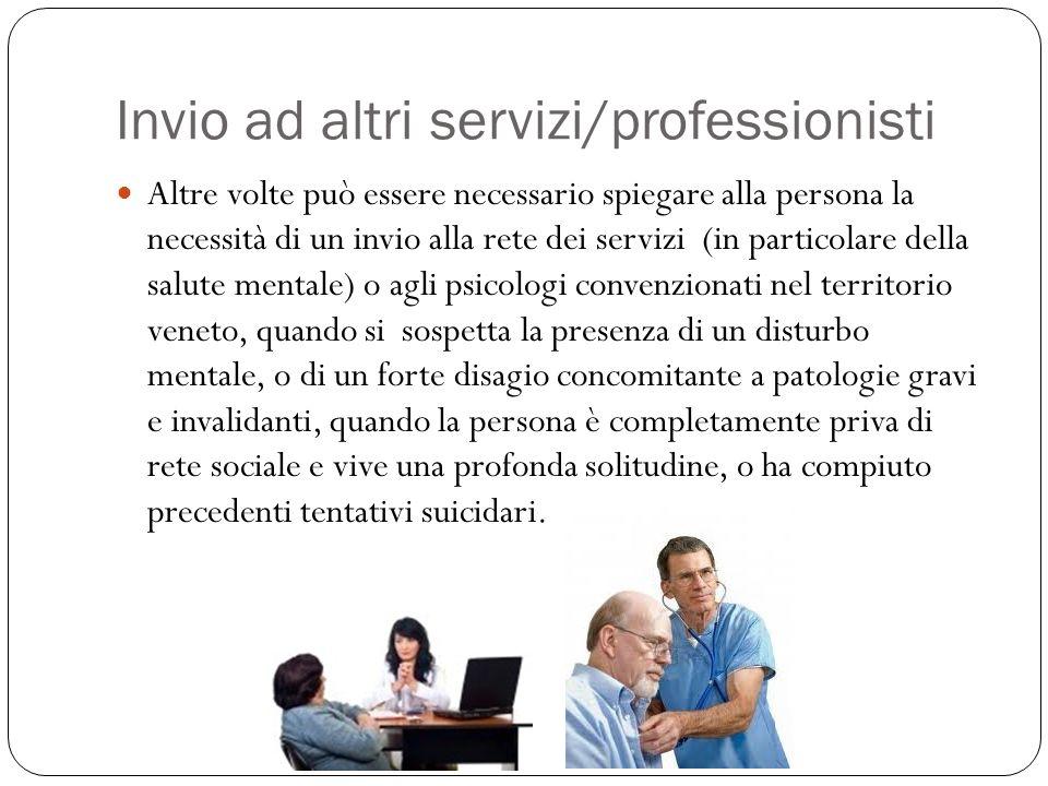 Invio ad altri servizi/professionisti