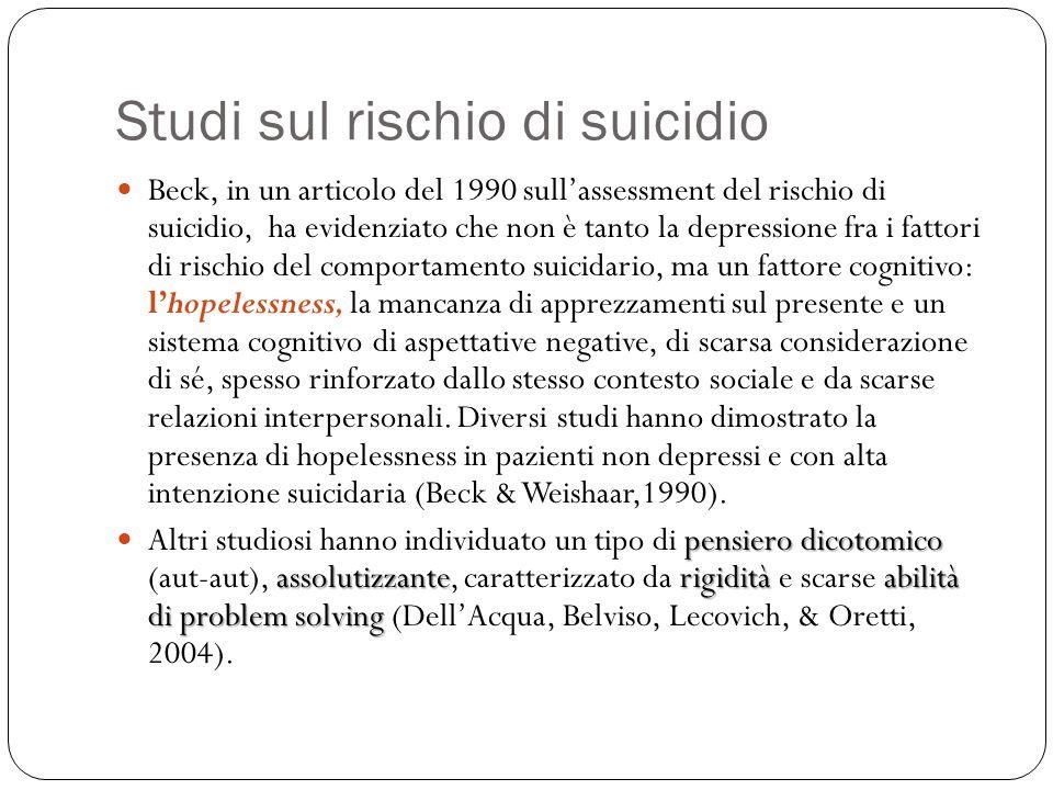 Studi sul rischio di suicidio