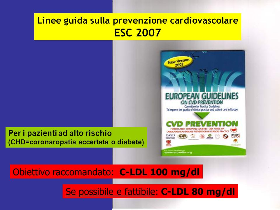 Linee guida sulla prevenzione cardiovascolare