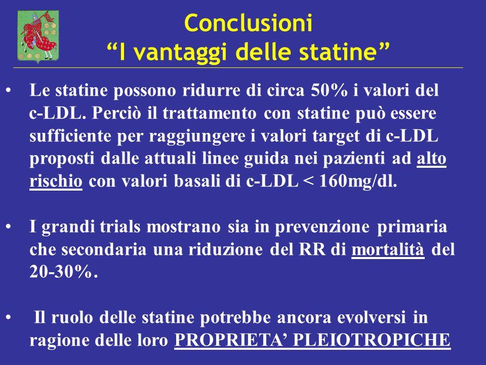 Conclusioni I vantaggi delle statine