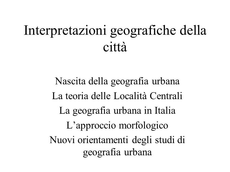 Interpretazioni geografiche della città