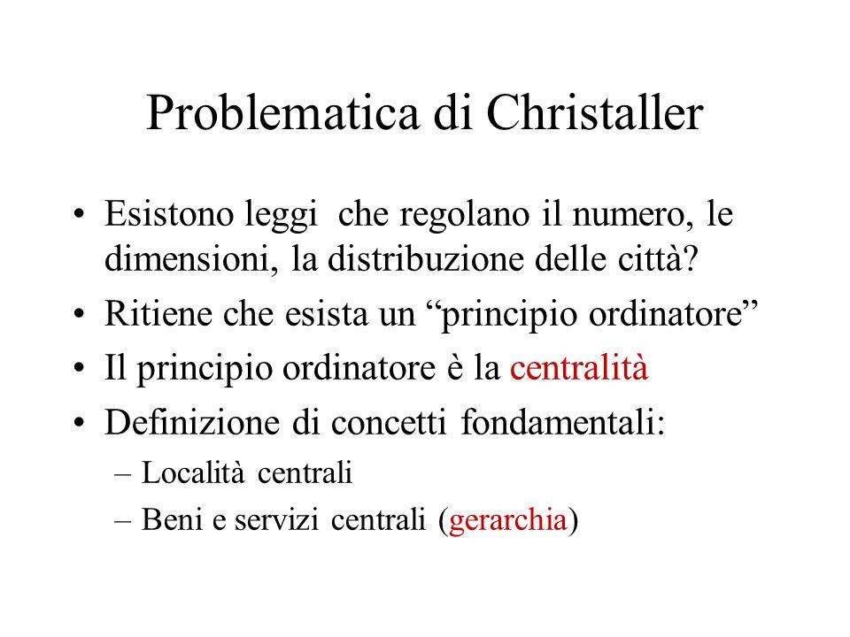 Problematica di Christaller