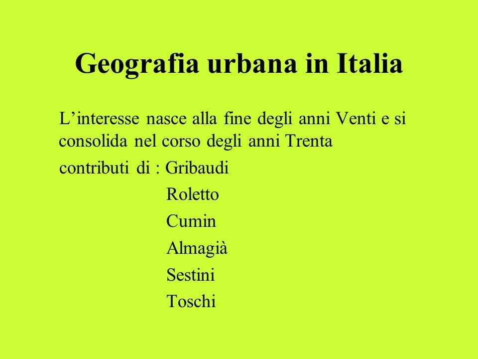 Geografia urbana in Italia