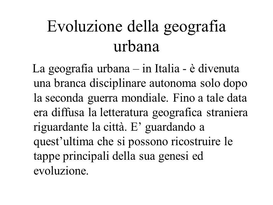 Evoluzione della geografia urbana