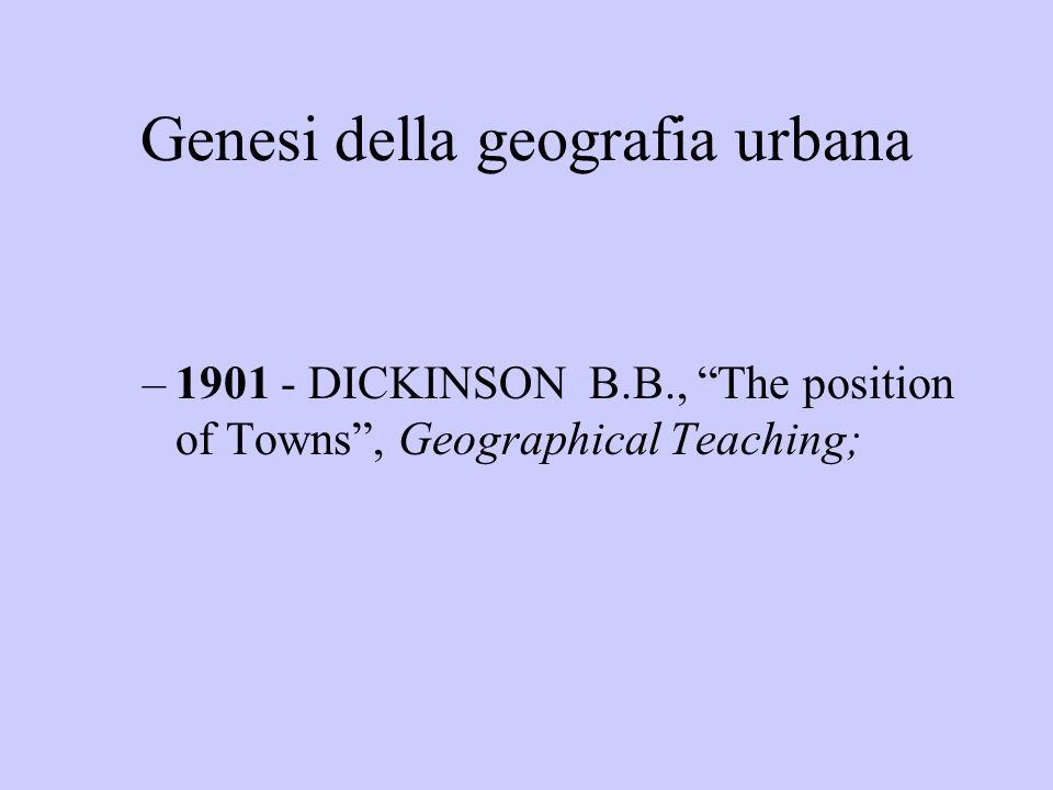 Genesi della geografia urbana