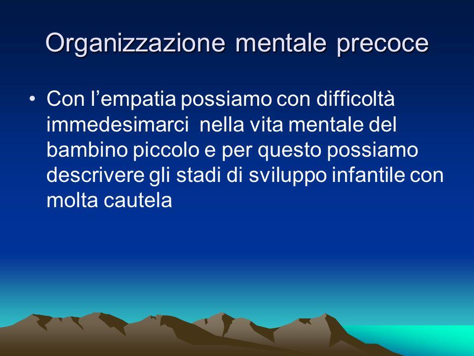 Organizzazione mentale precoce