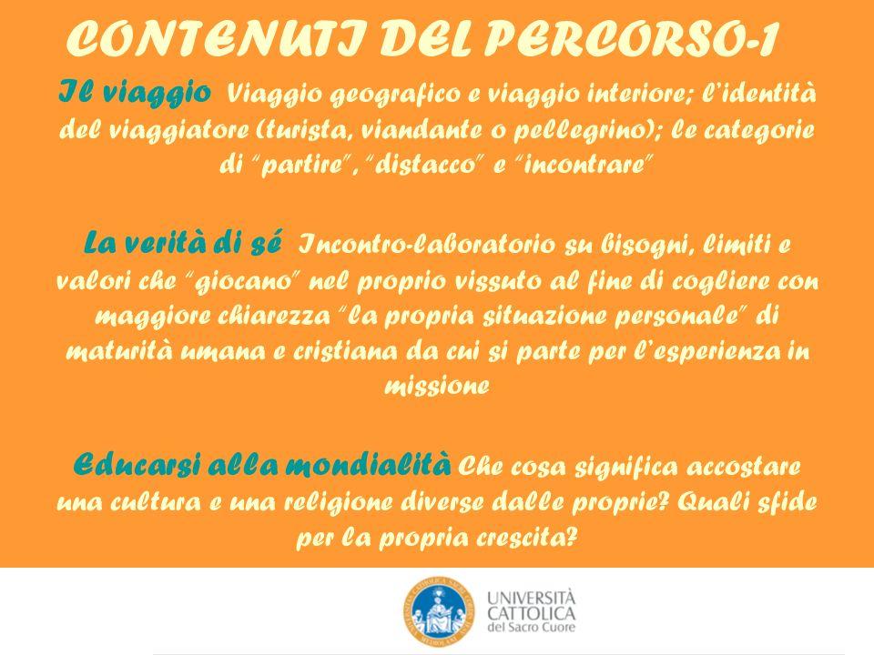 CONTENUTI DEL PERCORSO-1