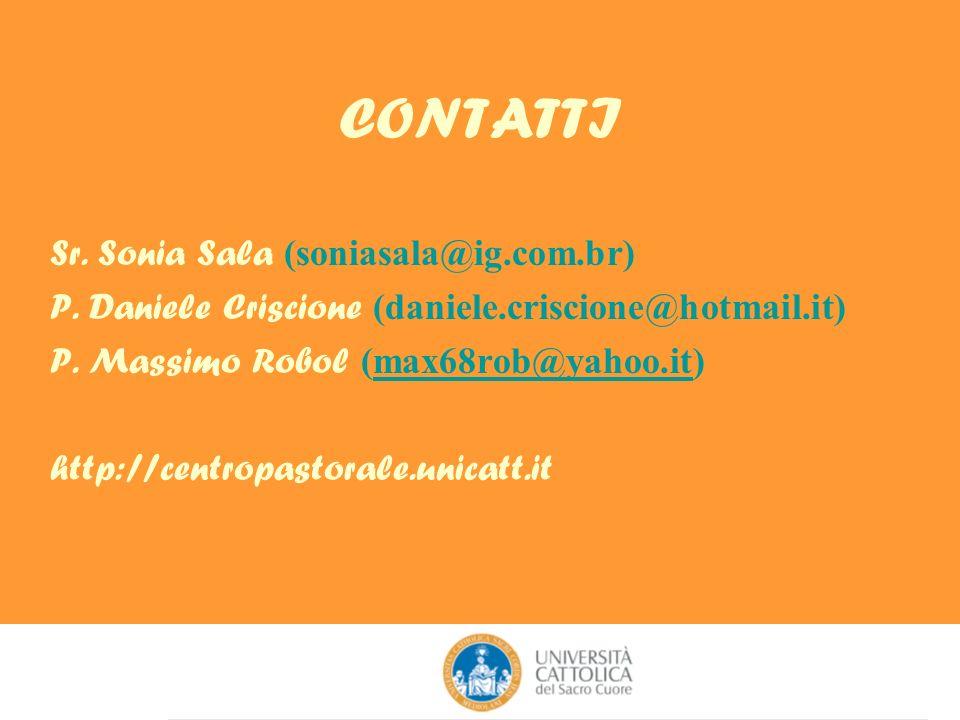CONTATTI Sr. Sonia Sala (soniasala@ig.com.br)