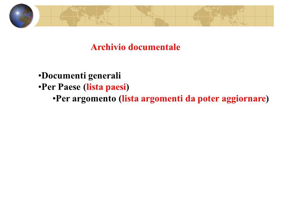 Archivio documentale Documenti generali.