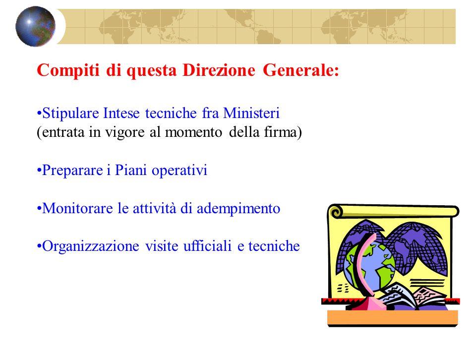 Compiti di questa Direzione Generale: