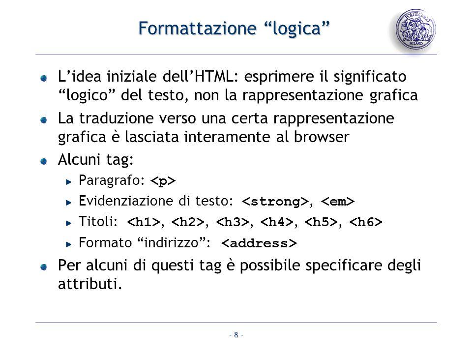 Formattazione logica