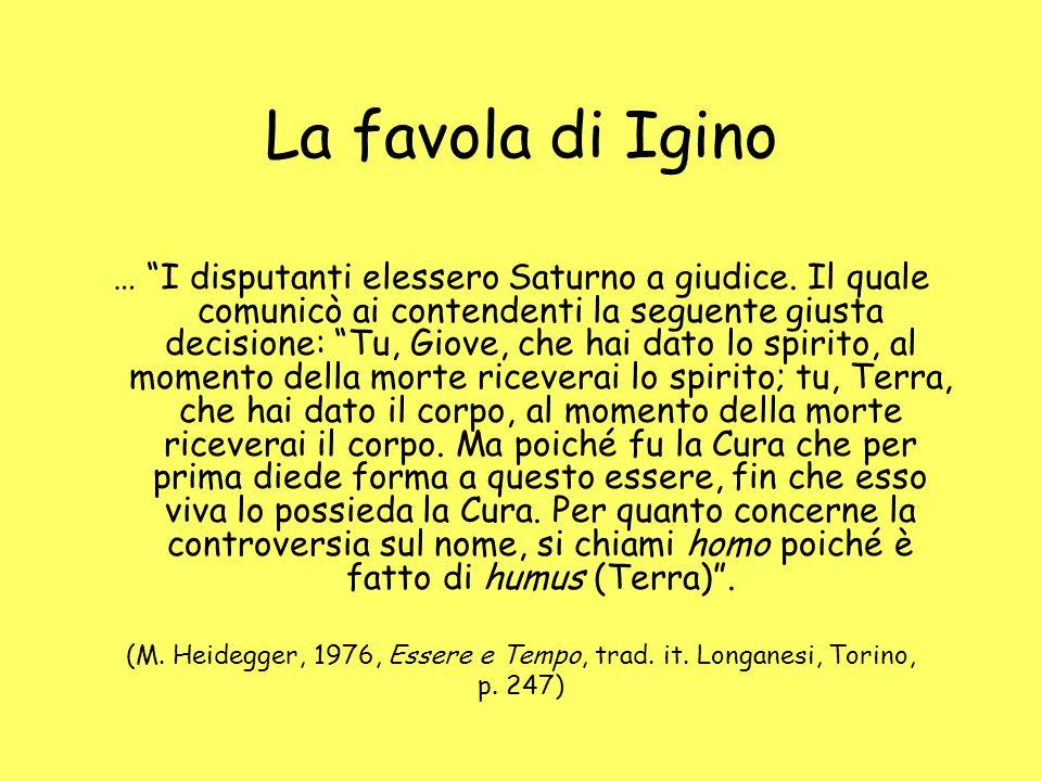 (M. Heidegger, 1976, Essere e Tempo, trad. it. Longanesi, Torino,