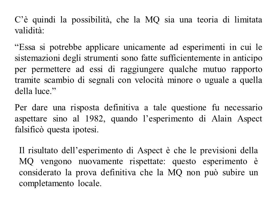 C'è quindi la possibilità, che la MQ sia una teoria di limitata validità: