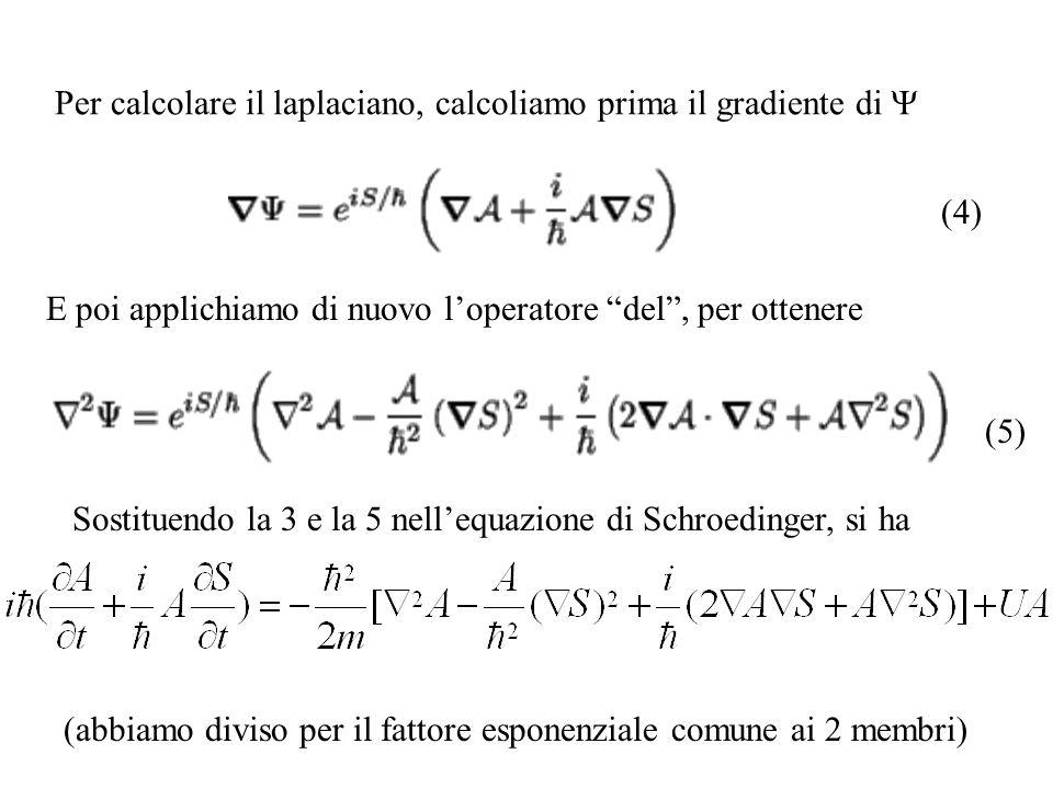 Per calcolare il laplaciano, calcoliamo prima il gradiente di Y