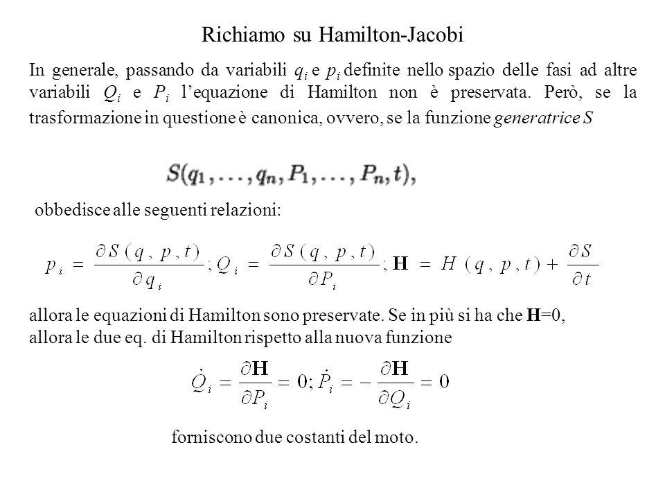 Richiamo su Hamilton-Jacobi