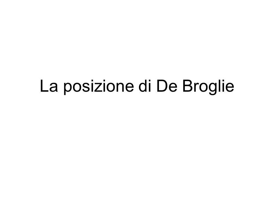 La posizione di De Broglie