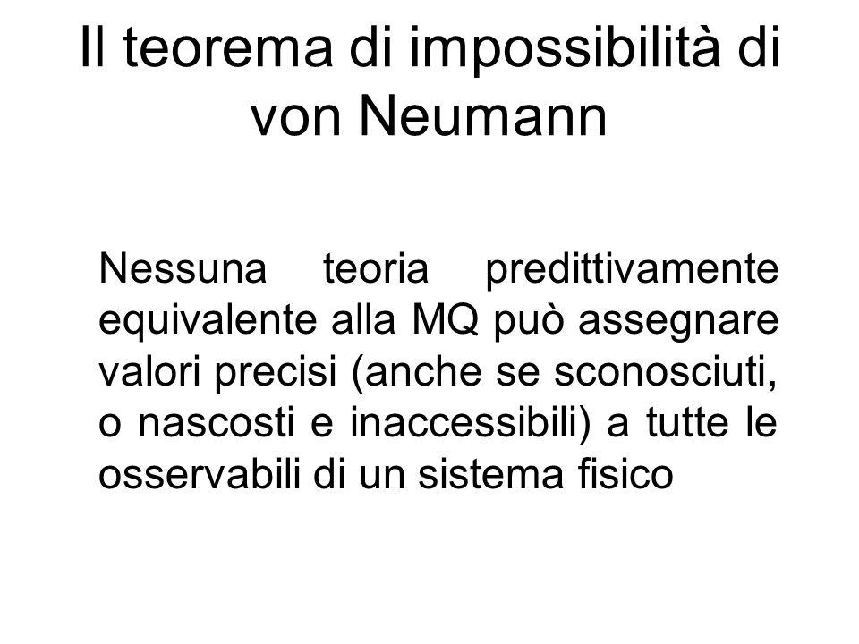 Il teorema di impossibilità di von Neumann
