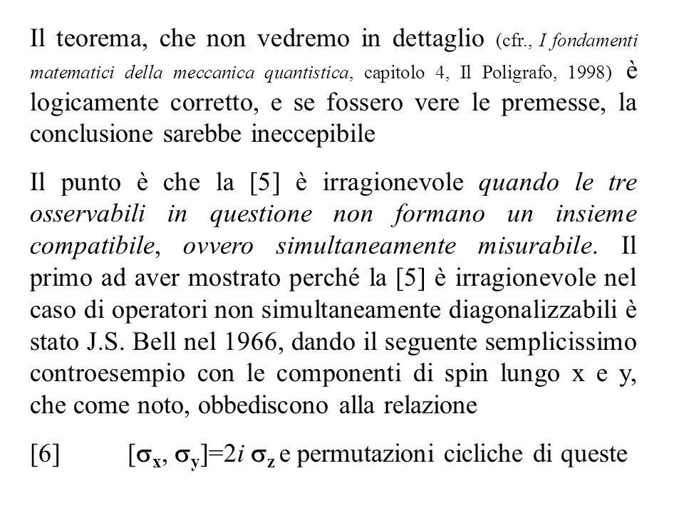 Il teorema, che non vedremo in dettaglio (cfr