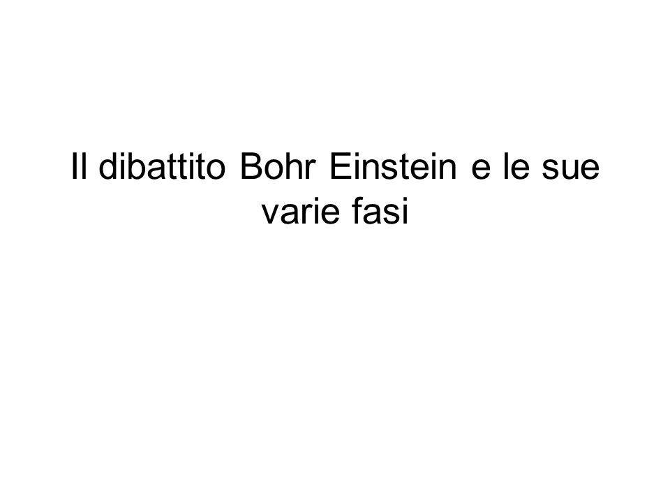 Il dibattito Bohr Einstein e le sue varie fasi