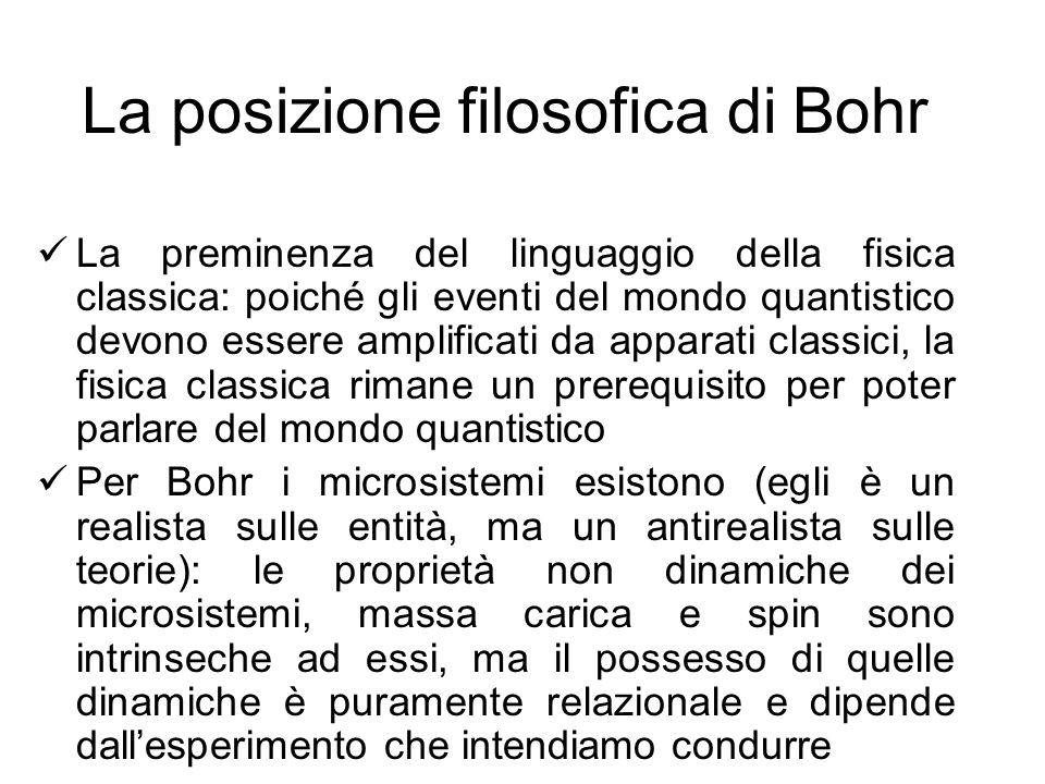 La posizione filosofica di Bohr