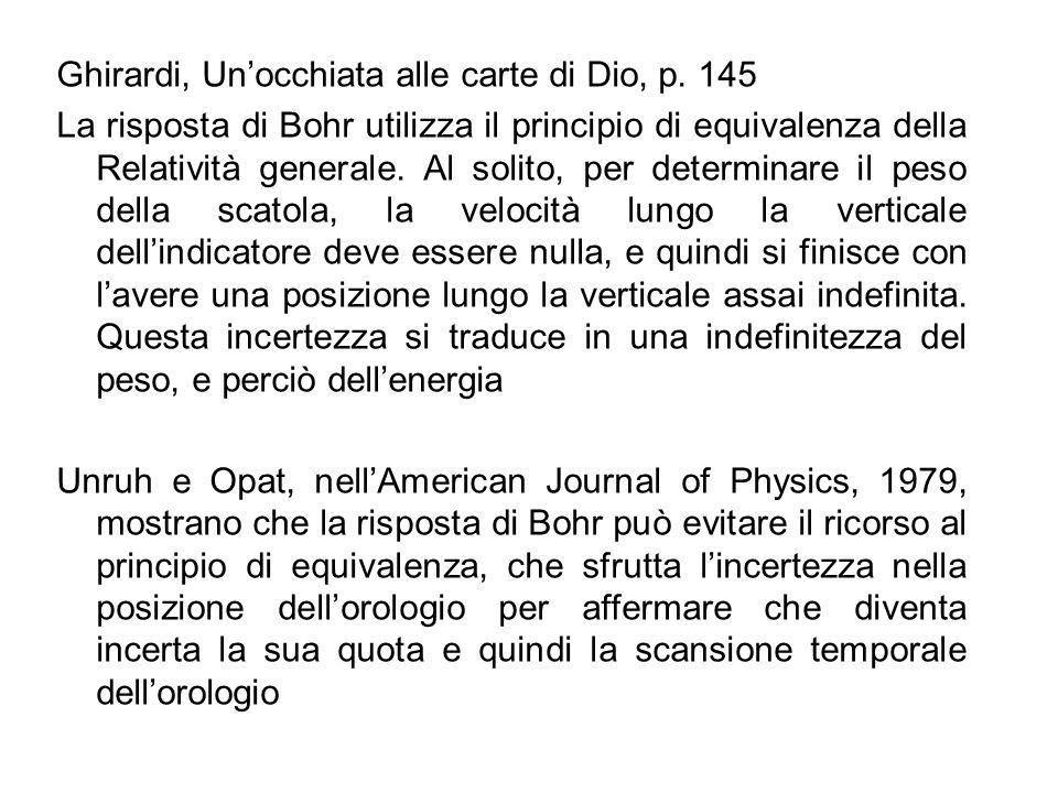 Ghirardi, Un'occhiata alle carte di Dio, p. 145