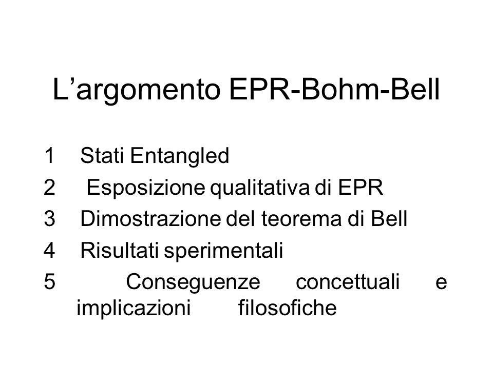 L'argomento EPR-Bohm-Bell