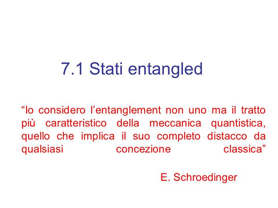 7.1 Stati entangled