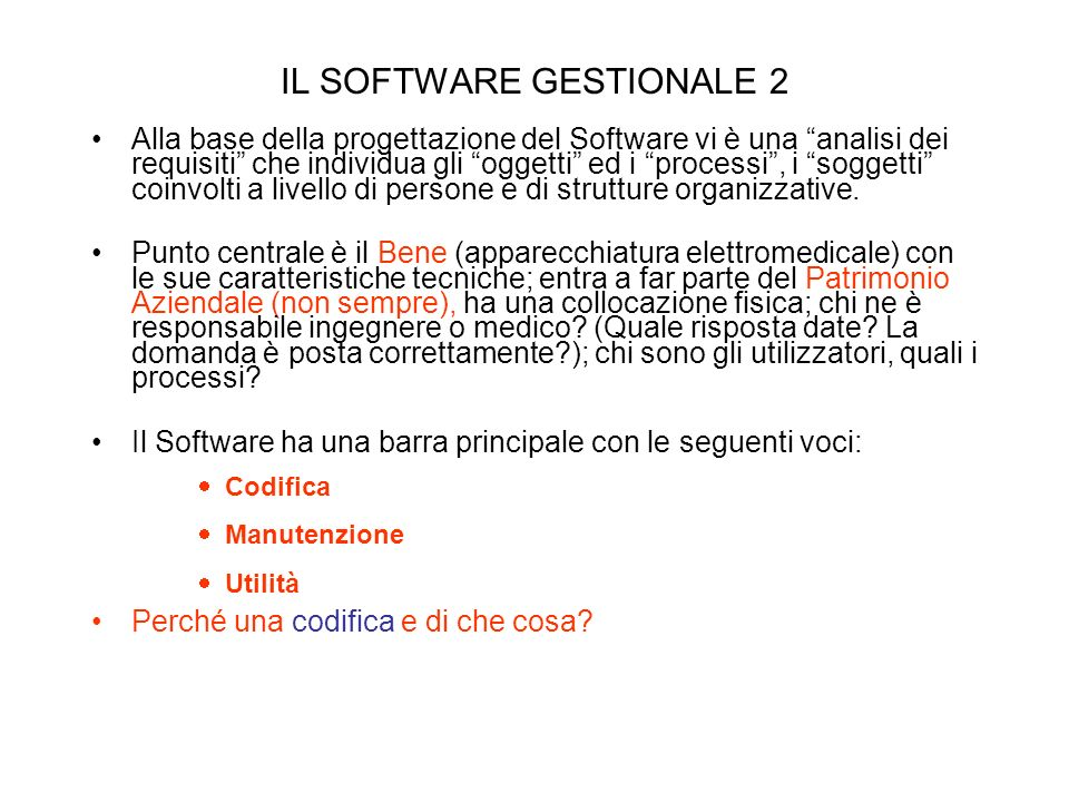 IL SOFTWARE GESTIONALE 2