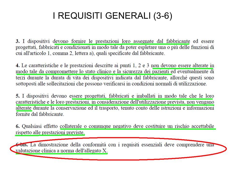 I REQUISITI GENERALI (3-6)