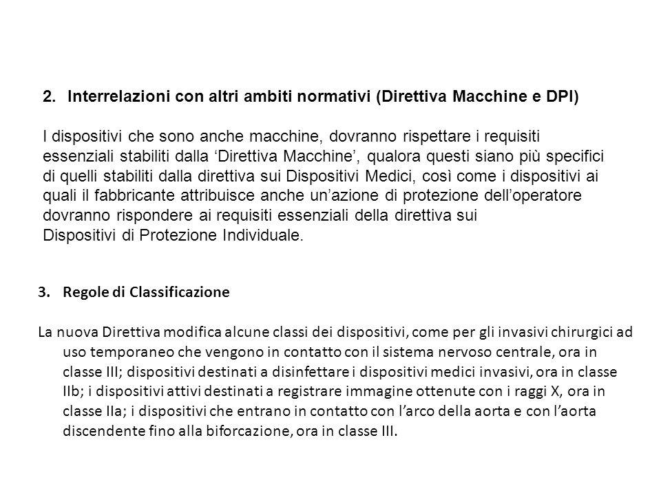Interrelazioni con altri ambiti normativi (Direttiva Macchine e DPI)