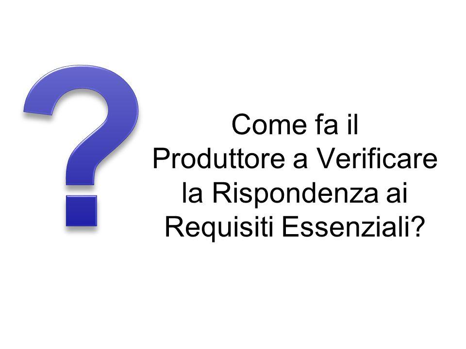Come fa il Produttore a Verificare la Rispondenza ai Requisiti Essenziali