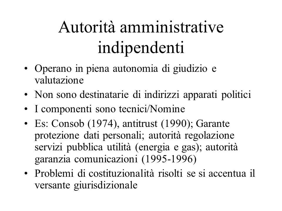 Autorità amministrative indipendenti