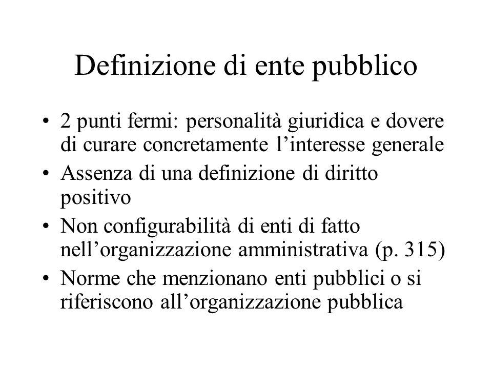 Definizione di ente pubblico