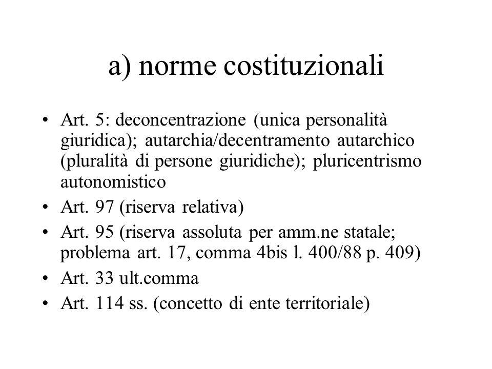 a) norme costituzionali
