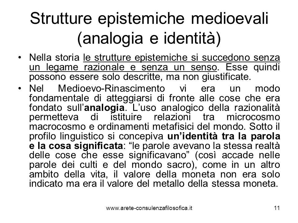 Strutture epistemiche medioevali (analogia e identità)
