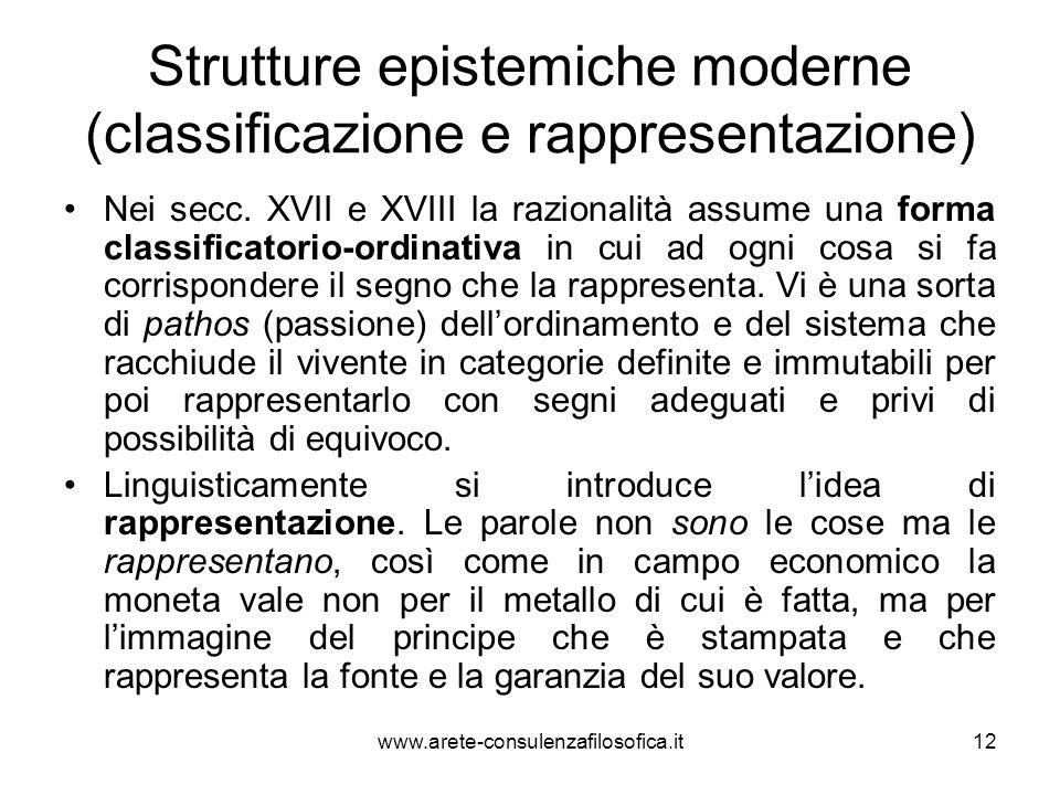 Strutture epistemiche moderne (classificazione e rappresentazione)