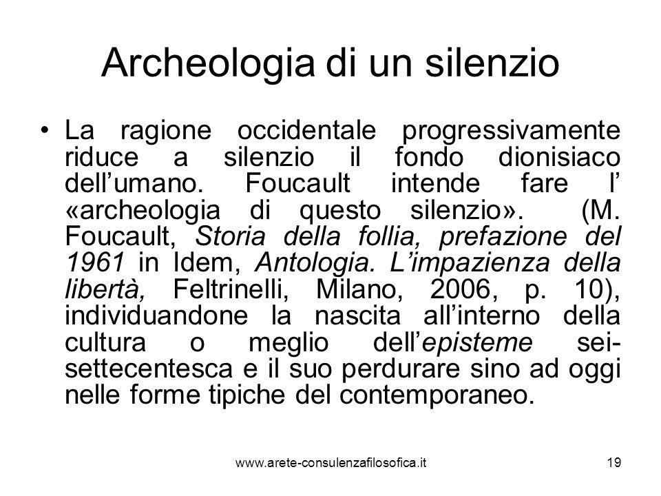 Archeologia di un silenzio