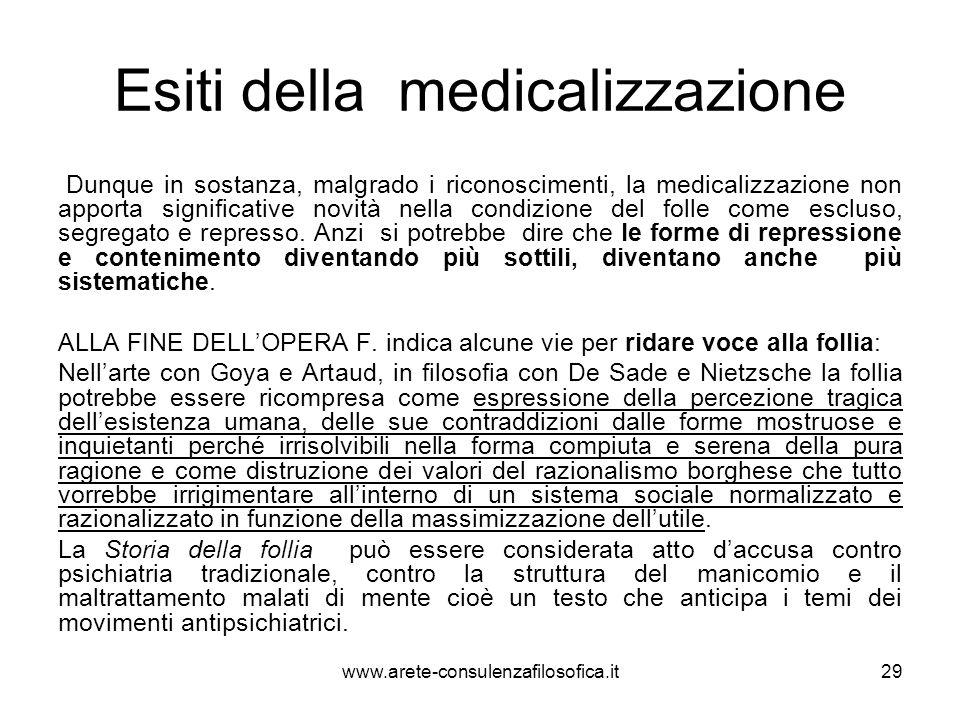 Esiti della medicalizzazione