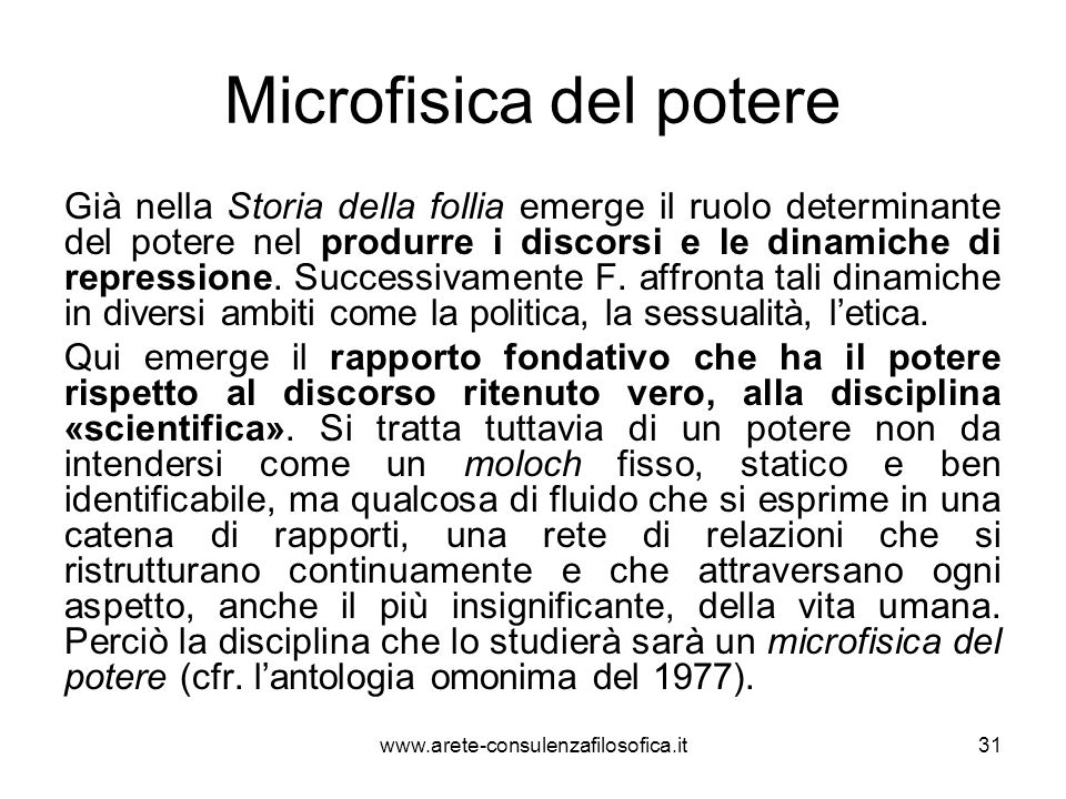 Microfisica del potere