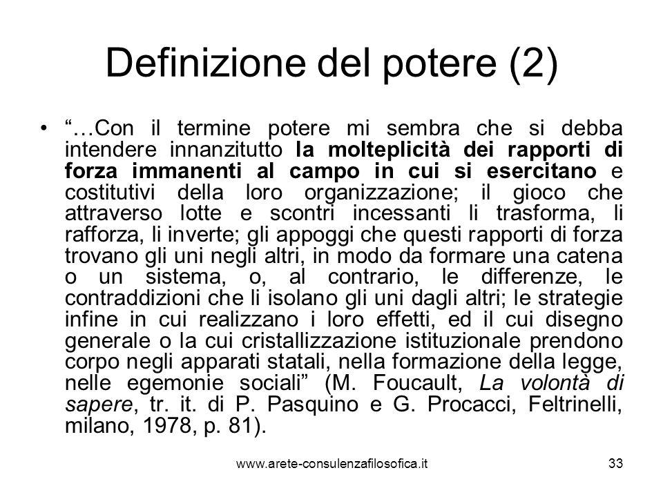 Definizione del potere (2)