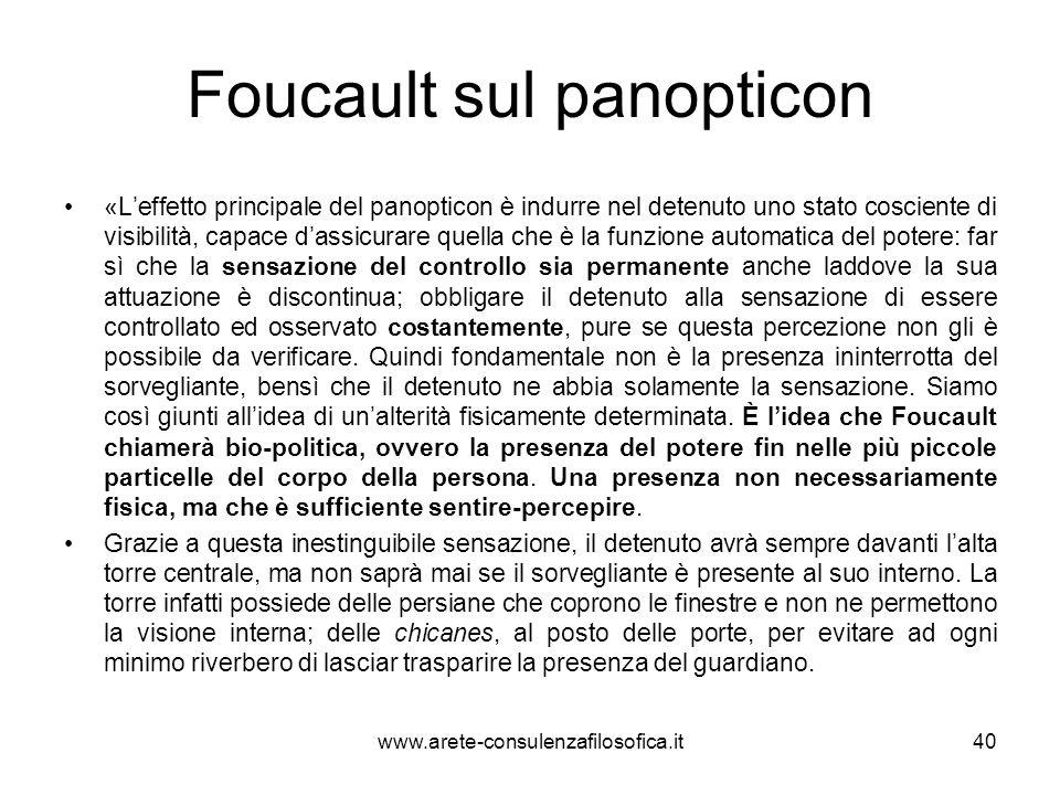 Foucault sul panopticon