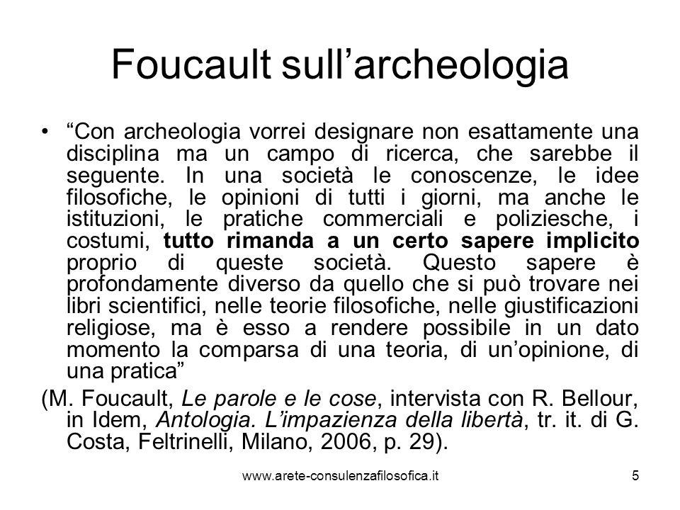 Foucault sull'archeologia