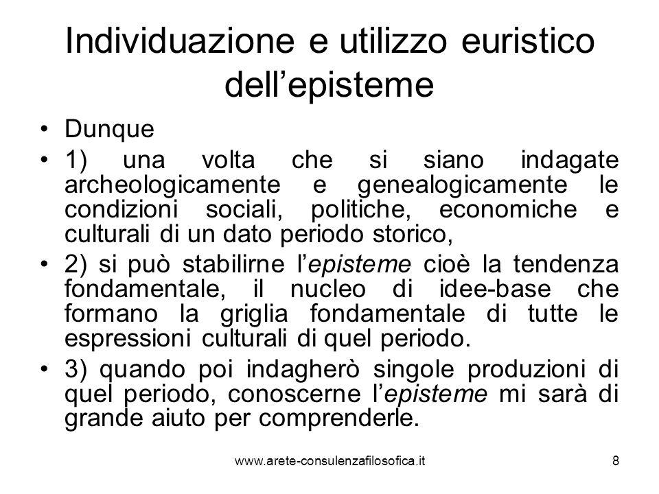 Individuazione e utilizzo euristico dell'episteme